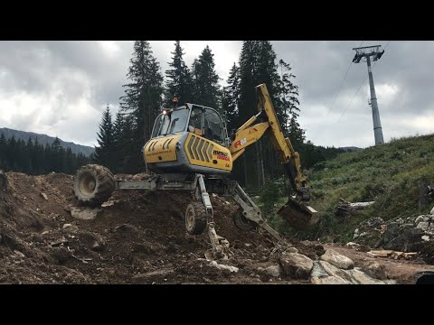 MENZI MUCK A81 Mobile walking spider excavator digging