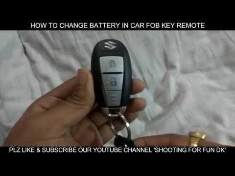 How To Change Battery Of Maruti Suzuki Car Key Fob Remote