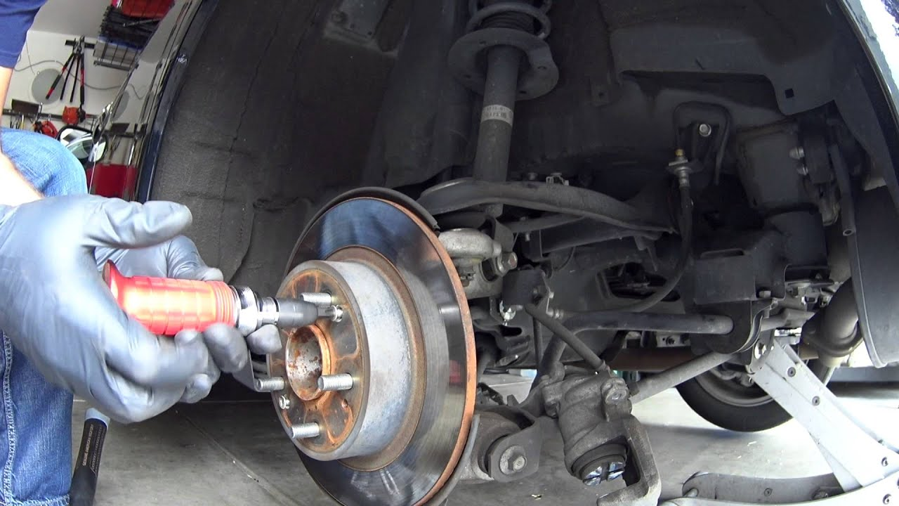 How to Change Rear Brakes and Rotors 2010 Acura TSX - YouTube