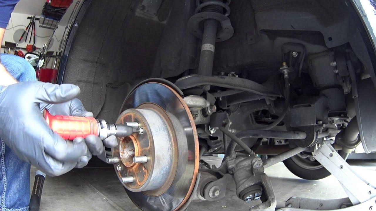 how to change rear brakes and rotors 2010 acura tsx youtube rh youtube com 2005 Acura TSX Black Slammed Acura TSX 2005 Black