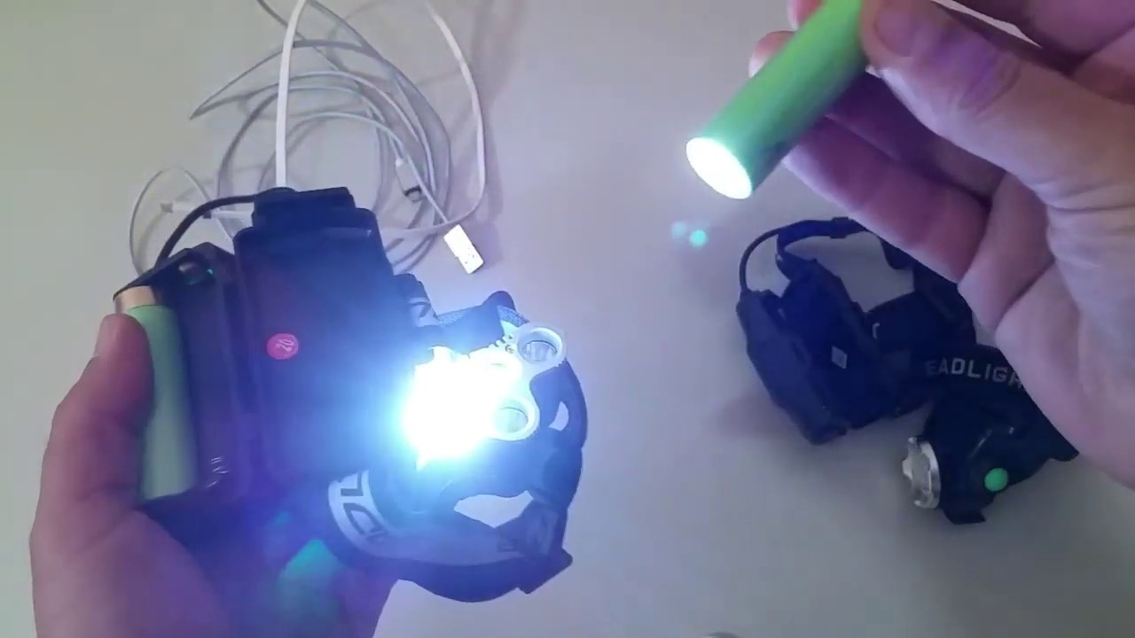 Doua lanterne pentru pescuit si drumetie, ieftine si bune cu senzori, acumulatori si incarcare USB