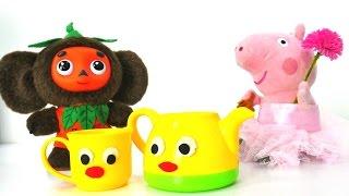 Видео для детей - Про Свинку Пеппу, Чебурашку и чайник