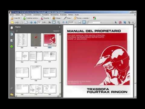 honda trx650fa rincon 650 workshop manual 2003 2004