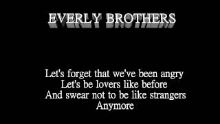 The Everly Brothers +Like Strangers + Lyrics On Screen
