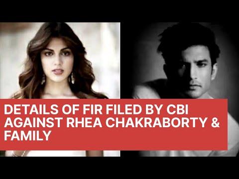 Big Breaking:రియా చక్రవర్తిపై CBI FIR