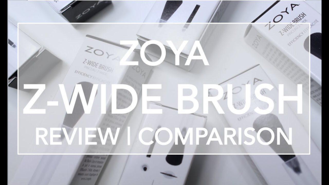 Zoya Z Wide Brush Review Comparison Live Swatches Youtube