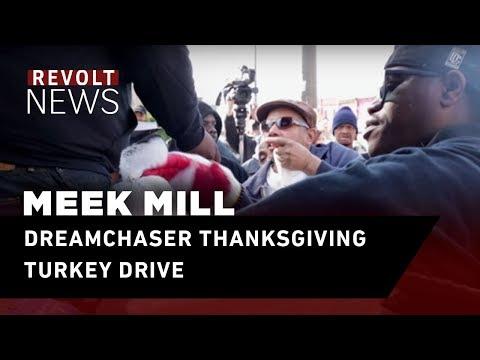 Meek Mill's DreamChaser Thanksgiving Turkey Drive