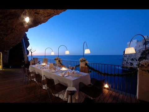 Amazing Grotta Palazzese Restaurant Inside Cave Stunning And Gorgeous Taly