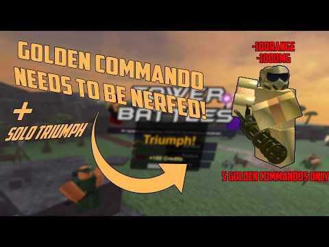 Roblox Tower Battles Golden Commando Needs A Nerf Snowy