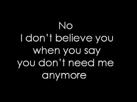 Talk Talk - I Don't Believe In You (5 02) Lyrics | MetroLyrics