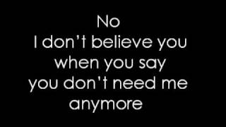 Pink ~ I don't believe you Lyrics