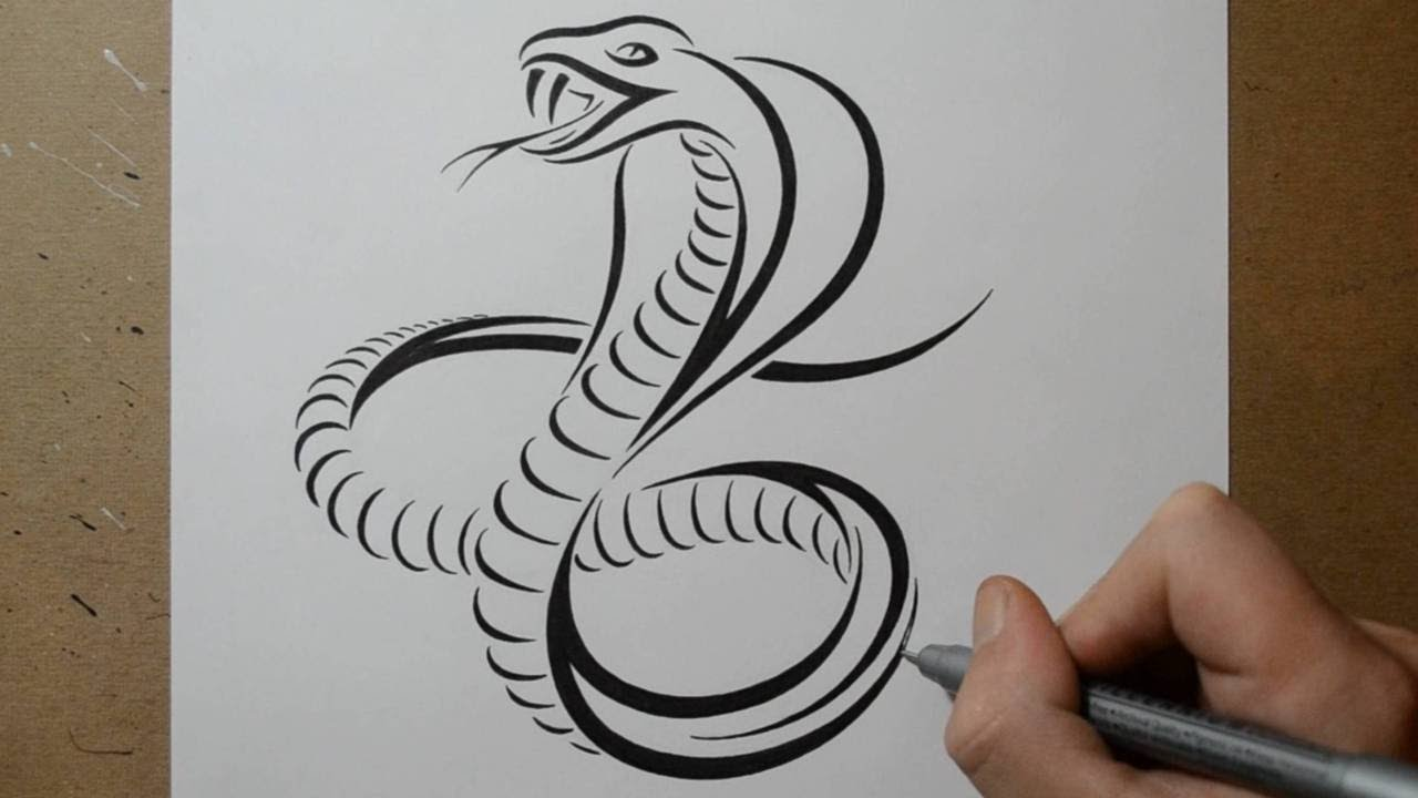 How To Draw A Cobra Snake