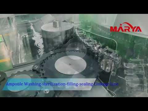 Ampoule washing sterilization filling sealing linkage line from Shanghai Marya