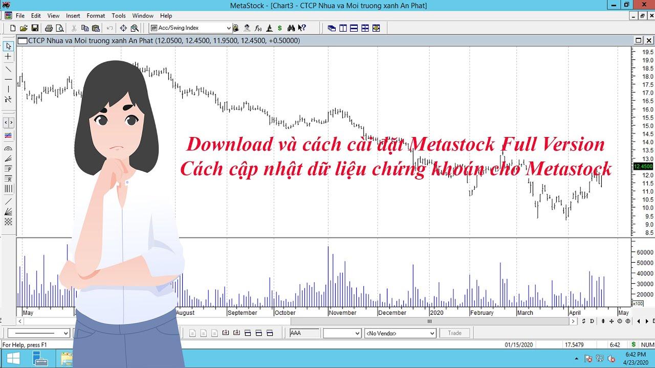 Download Metastock và cách đặt cập nhật dữ liệu chứng khoán cho Metastock
