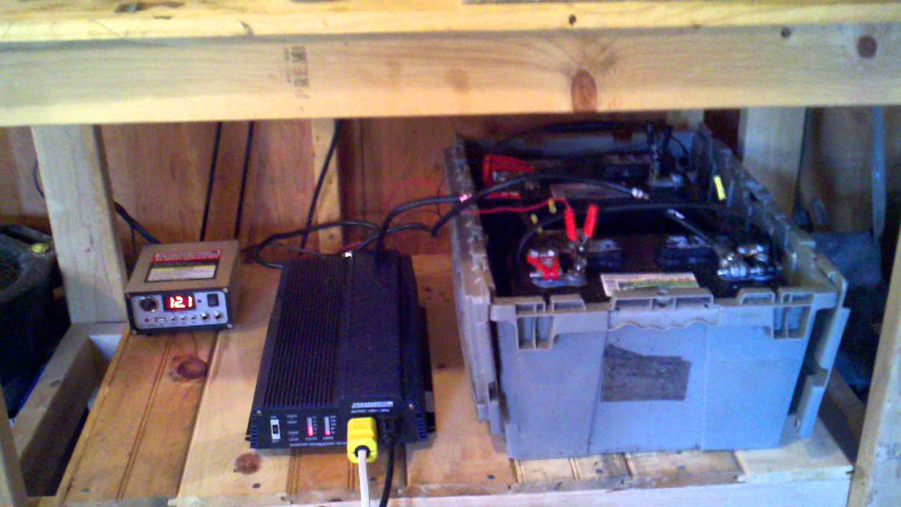 Solar Power Setup For My Shed, Harbor Freight Solar Panels And Inverter    YouTube