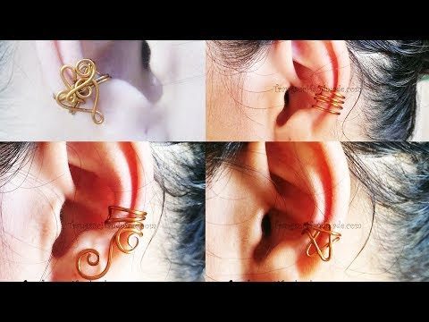 Simple earcuff - How to make copper wire jewelry 103