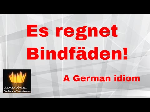 Es regnet Bindfäden  #German #idiom