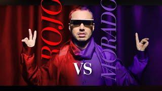 J. Balvin - Rojo Vs Morado (Letra/Lyrics + English Translation) Colores