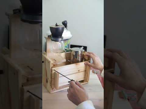 [DIY] Modify Wood Box Into a Coffee Station  After drinking coffee