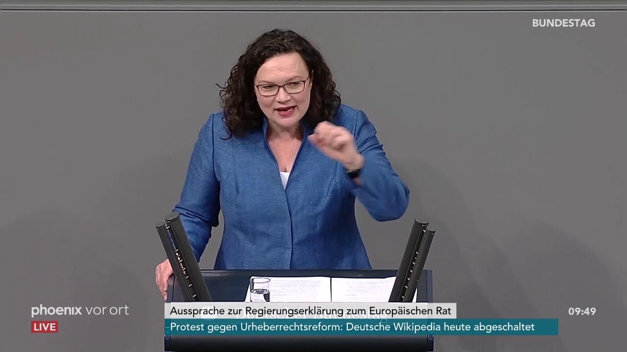 Andrea Nahles zur Regierungserklärung zum Europäischen Rat