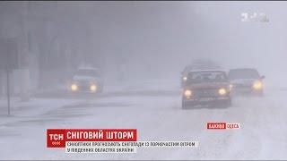 Снігопад вирує на Одещині