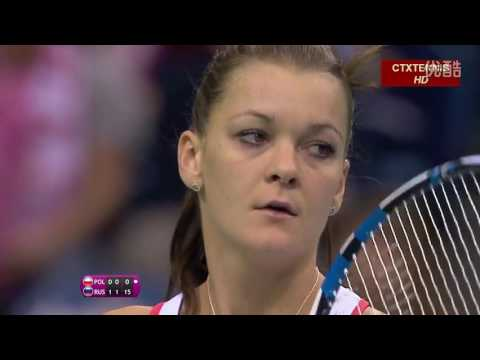 Maria Sharapova VS Agnieszka Radwanska Highlight Fed Cup 2015