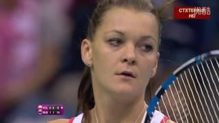 Maria Sharapova VS Agnieszka Radwanska Highlight Fed Cup 2015