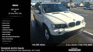 Used 2003 BMW X5 | Sunrise Auto Sales, Rosedale, NY