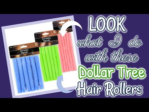 LOOK what I do with these Dollar Tree HAIR ROLLERS!!!!! QUICK and EASY Dollar Tree Diy