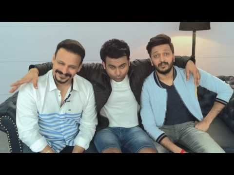Dr.sanket bhosale with Ritesh Deshmukh and Vivek Oberoi  for BankChor