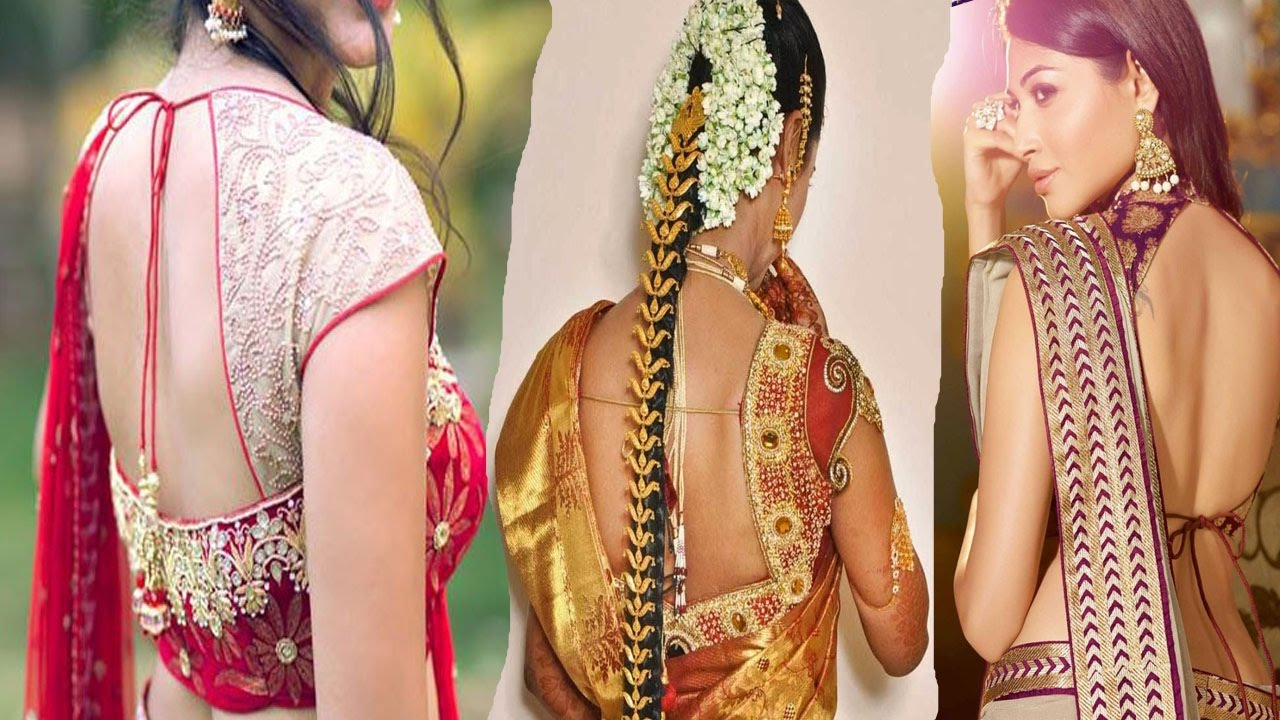Blouse designs saree blouse back designs blouses neck designs 30 jpg - Latest Bridal Silk Saree Blouse Back Neck Designs Youtube Videos Youtube