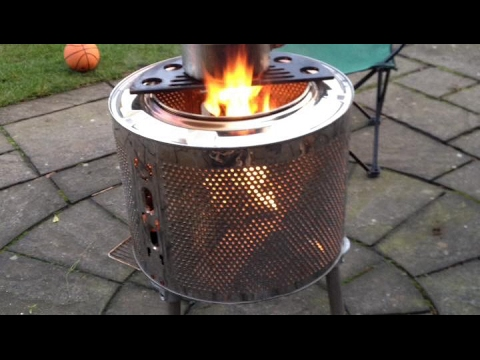 Washer Drum Fire Pit - YouTube
