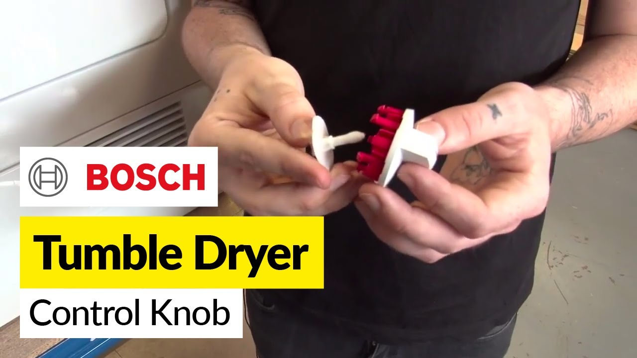 how to replace a tumble dryer control knob on a bosch tumble dryer [ 1280 x 720 Pixel ]