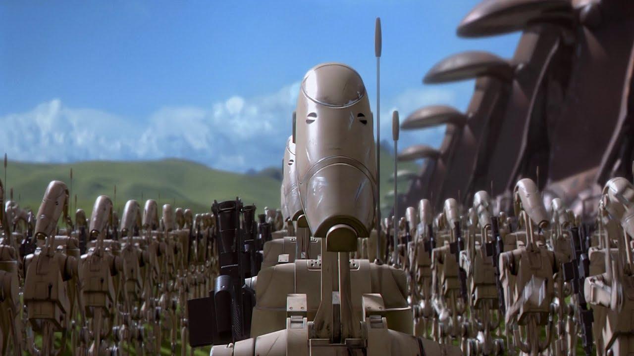 Star Wars Droids >> B1 Battle Droid Army Star Wars Empire at War Clone Wars Mod - YouTube