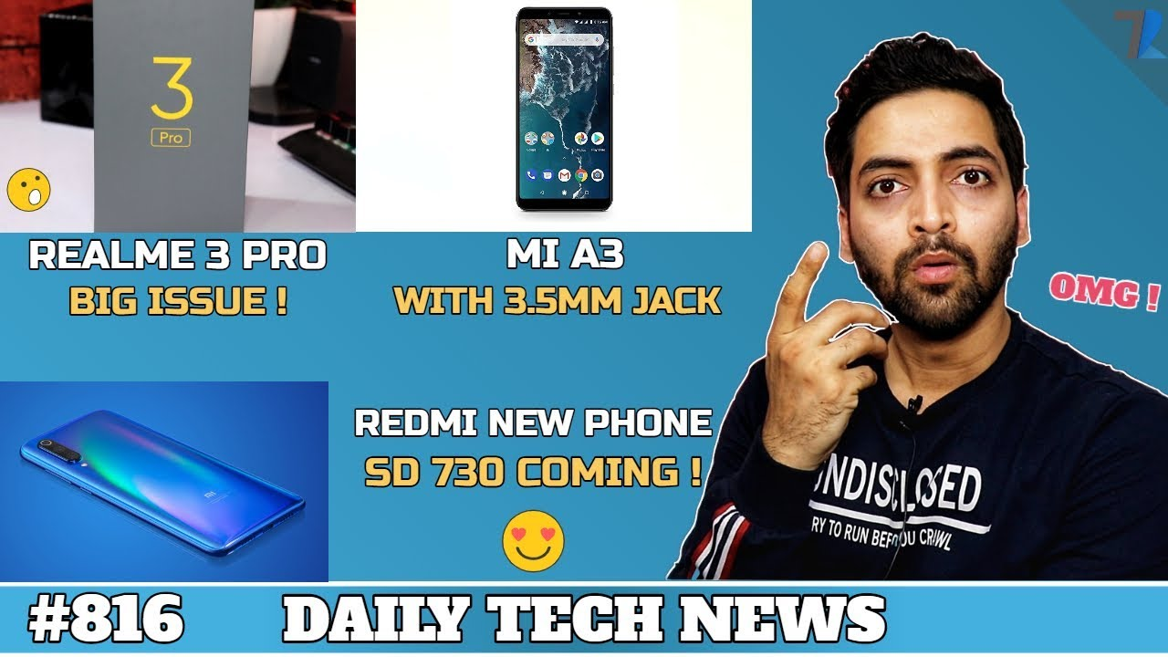 Realme Contract Breach,Mi A3(3.5MM Jack),Redmi SD 730,Tiktok BANNED India,PUBG 0 12 0 Spectate#816