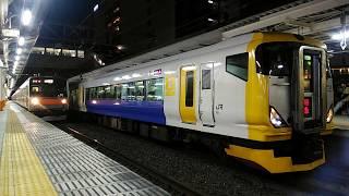 特急富士山マラソン E257系500番台(NB-11) 中央線八王子駅発車