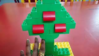 Parts of a tree with duplo blocks