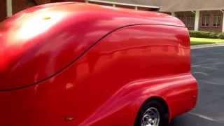 Custom enclosed motorcycle trailer