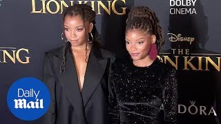 Halle Bailey and sister Chloe stun on 'Lion King' red carpet