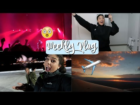 FLYING TO SYDNEY + SEEING STORMZY AND BANKS LIVE 2017- Weekly Vlog 13