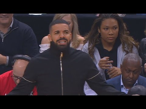 Drake Yelling At NBA Players and Coaching Them! Raptors vs Celtics