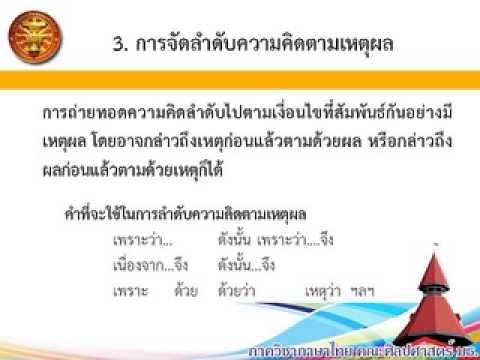 สื่อการเรียนการสอนวิชาการใช้ภาษาไทย (ท.๑๖๑)