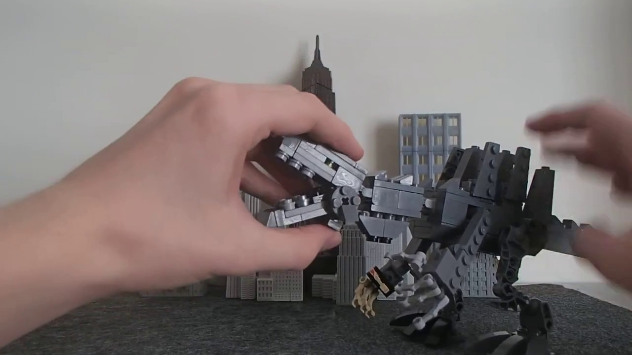 lego creation godzilla 1998 gino youtube