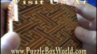 5 Sun 10 Step Red Saya Japanese Puzzle Box By Yamanaka