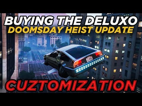"Buying the Deluxo ""Flying Car"" Gameplay & MOC Customization (GTA Online Doomsday Heist Update)"