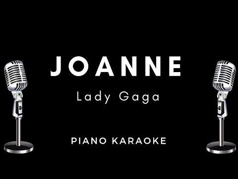 Lady Gaga - Joanne (Where do you think you're goin?) Piano Instrumental  / Karaoke / lyrics