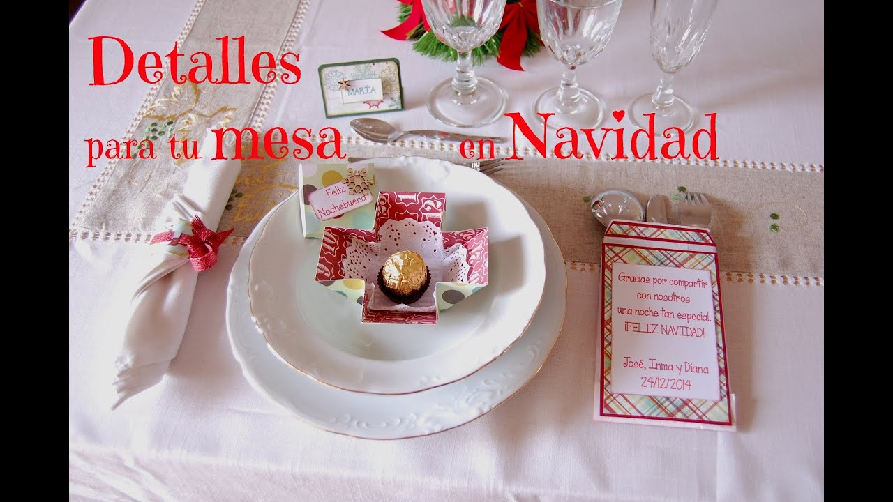 Tutorial detalles para decorar tu mesa en navidad youtube for Detalles de navidad