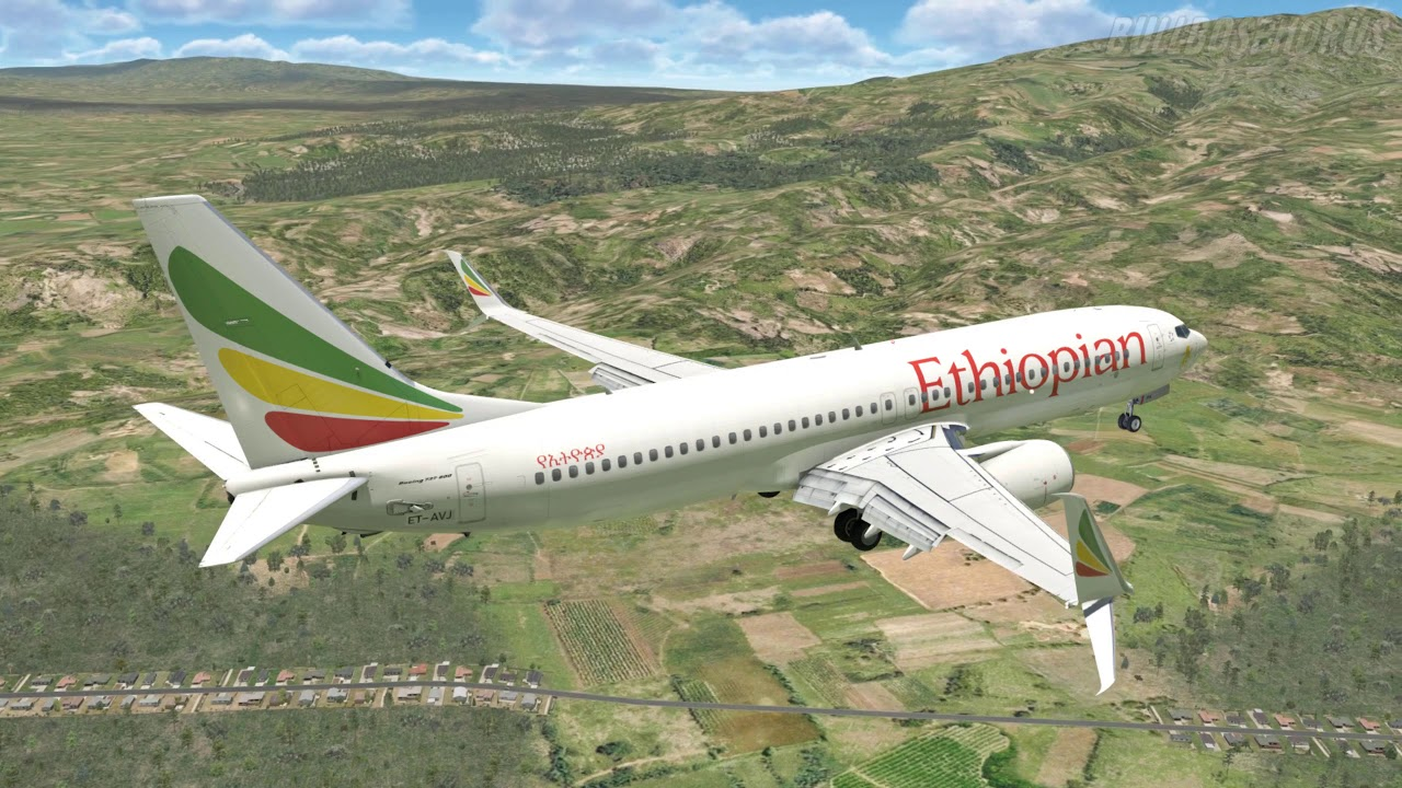 X-Plane 11 - B737 MAX Ethiopia Airlines, Approaching into Addis Ababa (HAAB)