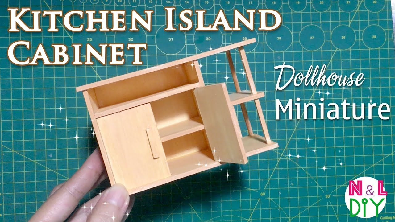 Diy Miniature Kitchen Island Cabinets How To Make Kitchen Island For Dollhouse
