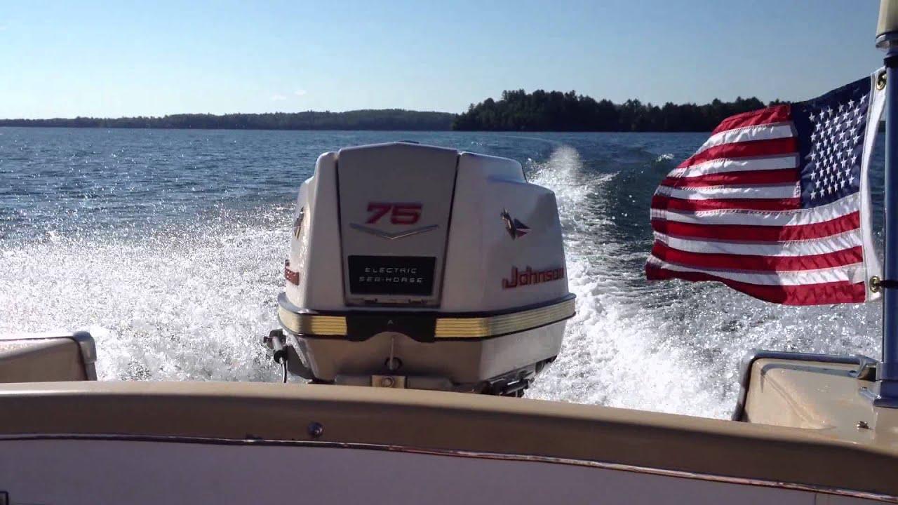 1961 75hp johnson outboard youtube rh youtube com 35 HP Johnson Outboard Motor 75 HP Johnson Outboard Motor